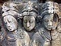 Borobudur - Divyavadana - 070 W, King Bimbisara sends a painting of Buddha to King Rudrayana (detail 2) (11706271535).jpg