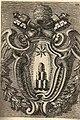 Borromini's coat of arms of Alexander VII in Cappella dei Re Magi by Filippo Juvarra (1711).jpg