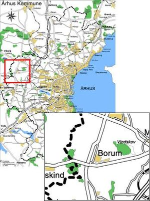Borum - Image: Borum placering relativ til aarhus