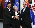 Borut Pahor, Jadranka Kosor and Boris Tadić in 2010.jpg