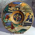 Bottega di maestro andreoli, piatto con la caduta di fetonte, 1527.JPG