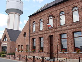 The town hall in Bouvignies