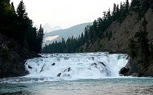 Bow Falls - Image: Bow River 27527 3