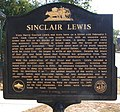 Boyhood home of Sinclair Lewis historical marker.jpg