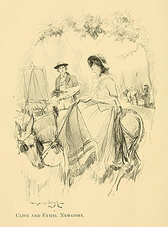 The Newcomes - Clive and Ethel Newcome illustrated by George Alfred Williams