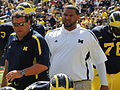 Brady Hoke and Jerry Montgomery, 2012.jpg
