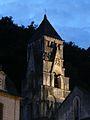 Brantôme campanile crépuscule.JPG