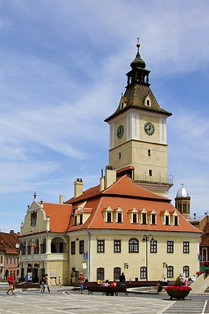 Brasov (Kronstadt - Brasso) - city hall Lestat edit.jpg