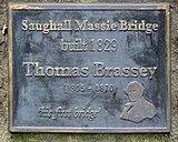 Brassey plaque on Saughall Massie bridge.jpg