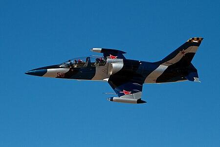 Aero L-39 flying