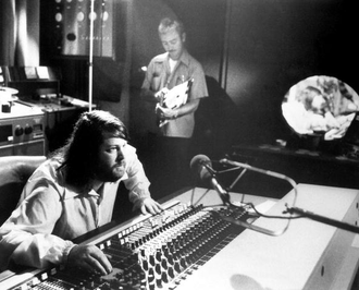 The Beach Boys Love You - Brian Wilson behind the mixing board of Brother Studios, circa 1976.