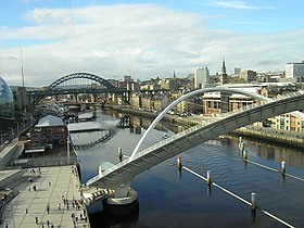 Newcastle Quayside & River Tyne viewed from Gateshead