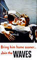 Bring him home sooner... Join the WAVES, U.S. Navy poster, 1944.jpg