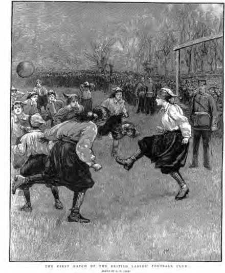 First Match of the British Ladies' Football Club, March 1895 British Ladies Football Club 1895.png
