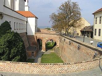 Špilberk Castle - Entrance to the first courtyard