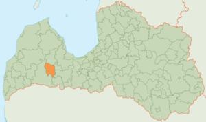 Brocēni Municipality - Image: Brocenu novads karte