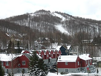 Bromont, Quebec - Mont Brome overlooking the city