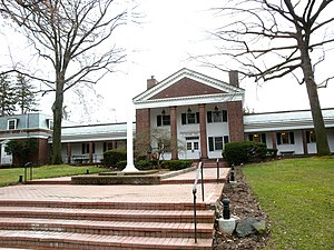 Looking west at Bronxville Village Hall, 200 P...