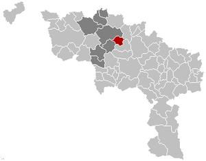 Brugelette - Image: Brugelette Hainaut Belgium Map
