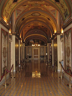 Brumidi Corridors - Brumidi Corridors facing east towards Patent Lobby.