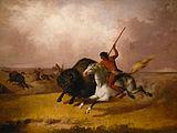Buffalo hunt on the Southwestern plains.jpg
