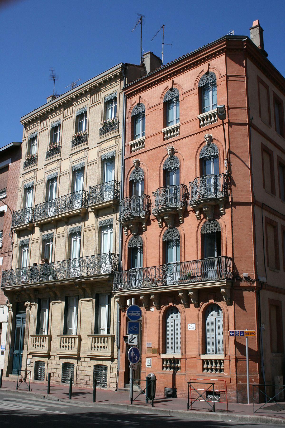 Rue Des Jardins Sur La Carte De Toulouse France