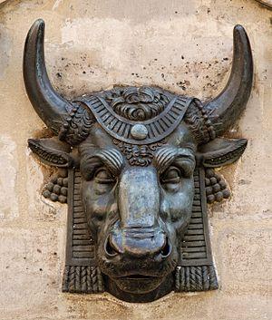Edme Gaulle - Image: Bull head Gaulle Paris