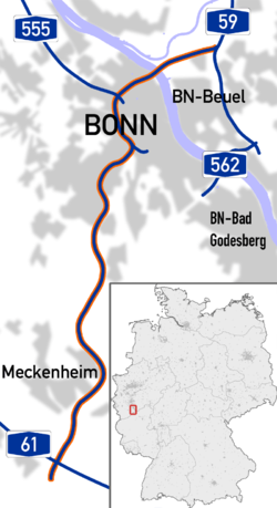 Bundesautobahn 565 map.png