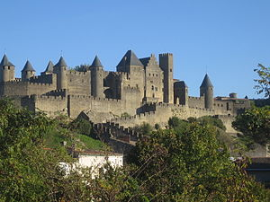 Prosper Mérimée - The fortified medieval town of Carcassonne, made a monument in 1860
