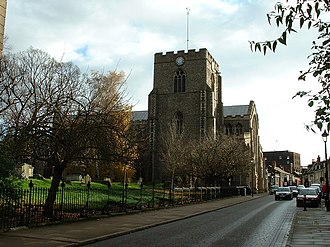 St Mary's Church, Bury St Edmunds - Image: Bury St Edmunds Church of St Mary