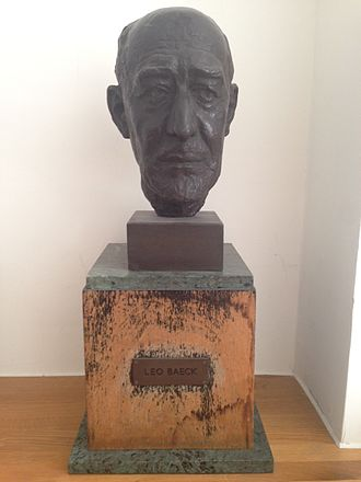 Leo Baeck - Bust of Leo Baeck at the Wiener Library for the Study of the Holocaust and Genocide in London, UK