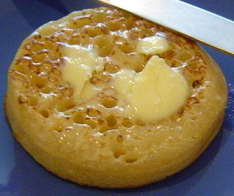 Crumpet - A buttered crumpet
