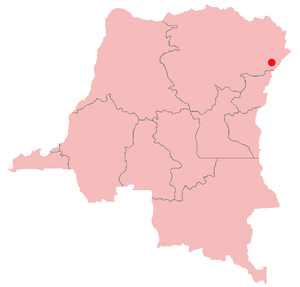 United Nations Security Council Resolution 1484 - Location of Bunia in Ituri region of the Democratic Republic of the Congo
