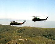 CH-37C and UH-34D USMC in flight 1964
