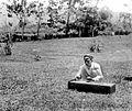 COLLECTIE TROPENMUSEUM Blinde Javaanse muzikant bespeelt een plankciter in de tuin TMnr 10027161.jpg