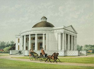 Immanuel Church, Jakarta - Late 19th-century lithograph of Immanuel's Church.
