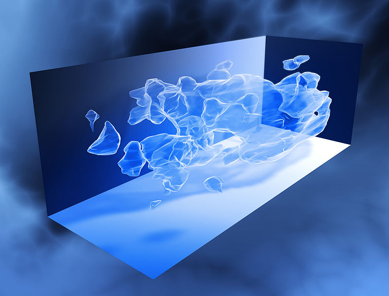http://en.wikipedia.org/wiki/File:COSMOS_3D_dark_matter_map.jpg