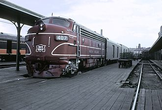 Memphis Central Station - Train 22, the Cherokee from Tucumcari waiting at Memphis Central Station on April 16, 1962