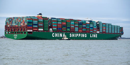 CSCL Globe is one of the largest container ships in the world - Container ship