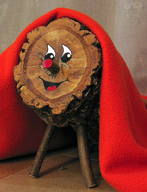 Tió de Nadal - Photograph of a typical contemporary Tió