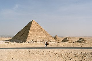 smallest of the three main Pyramids of Giza, Egypt