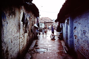 History of Kolkata - Slum in Calcutta, 1986