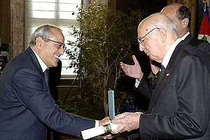 Francesco Gaetano Caltagirone - Francesco Gaetano Caltagirone at Quirinale with Giorgio Napolitano, President of the Italian Republic
