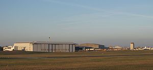 Cambridge Airport - Image: Cambridge Airport buildings