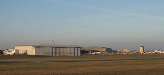 Cambridge International Airport - Image: Cambridge Airport buildings