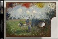 Camille Pissarro - The Artist's Palette with a Landscape - 1955.827 - Clark Art Institute.tiff