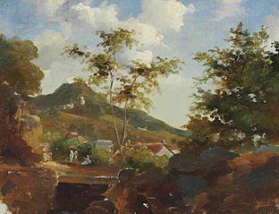 Village au pied d'une