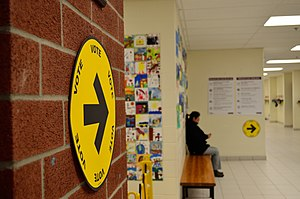 Canadian federal election, 2015 - A polling station on election day