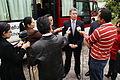 Canciller encargado, Carlos Játiva inaugura autobuses donados por la cooperación coreana para el registro de refugiados (4034580345).jpg