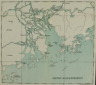 "Humen - English map of the Pearl River Delta, showing the Humen as the ""Boca Tigris"""